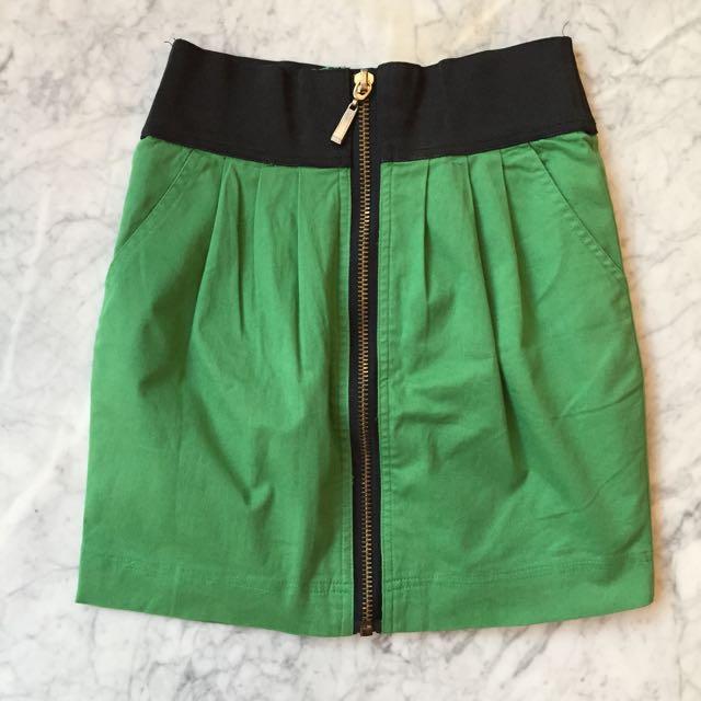 Mini Skirt In Green