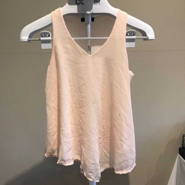 Montira Baby Pink Sheer Singlet With Sparkles, Size 10