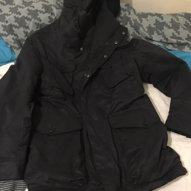Medium Navy Oversized H&M Coat