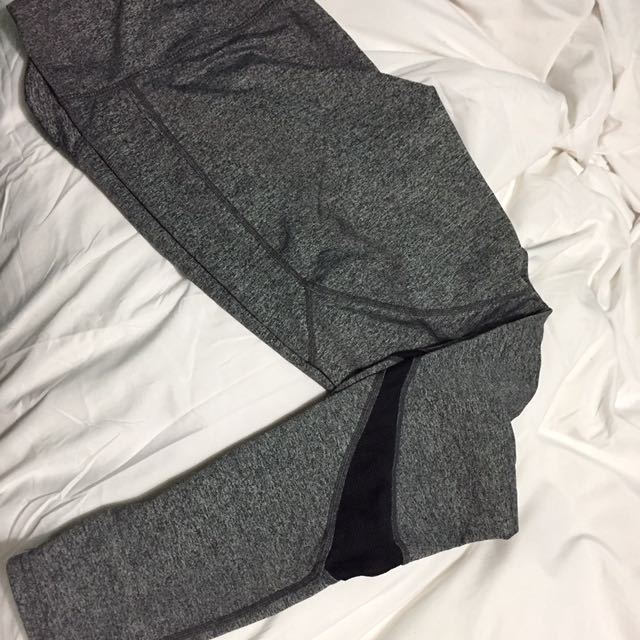 NEW gray Leggings With Mesh Detail