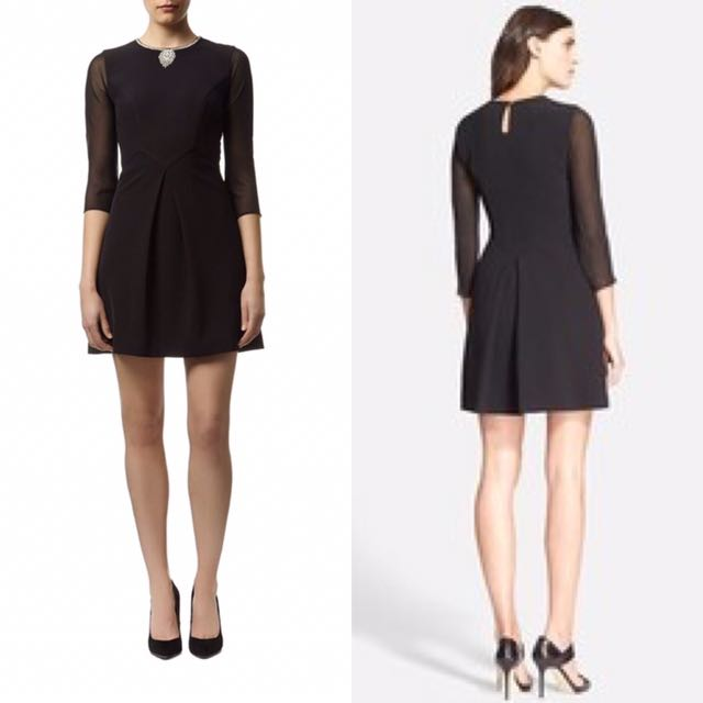 (NEW) TED BAKER HASWELL BLACK DRESS
