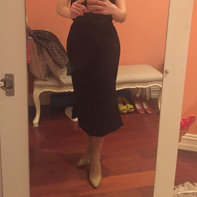 Nicholas Black Midi Skirt 8
