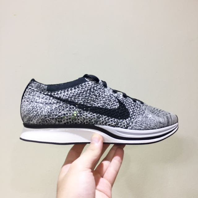 d12ed79bc23a ... shop nike flyknit racer oreo 1 mens fashion footwear on carousell 08900  d06f8