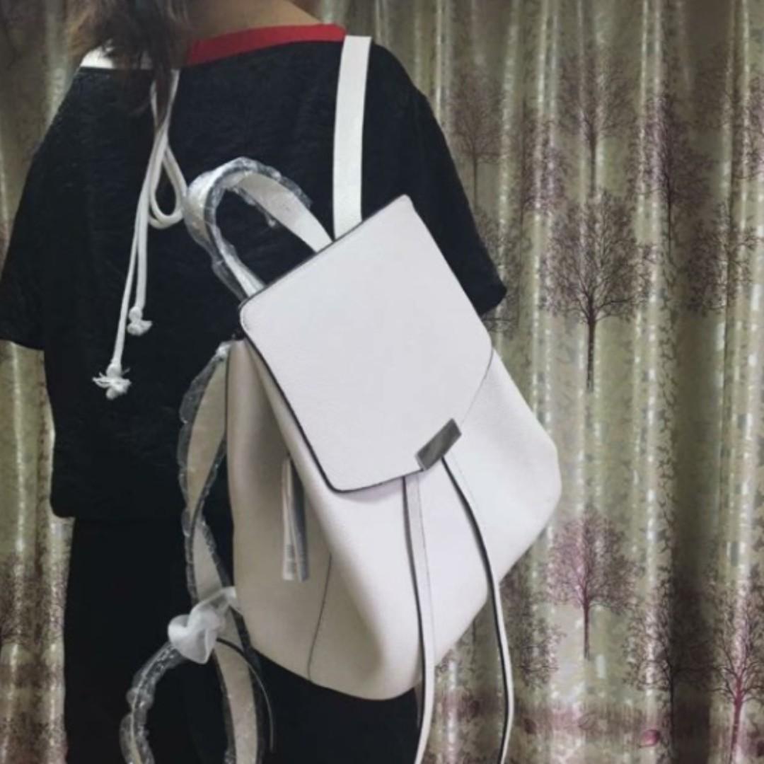 white leather backpack handbag fenix toulouse handball