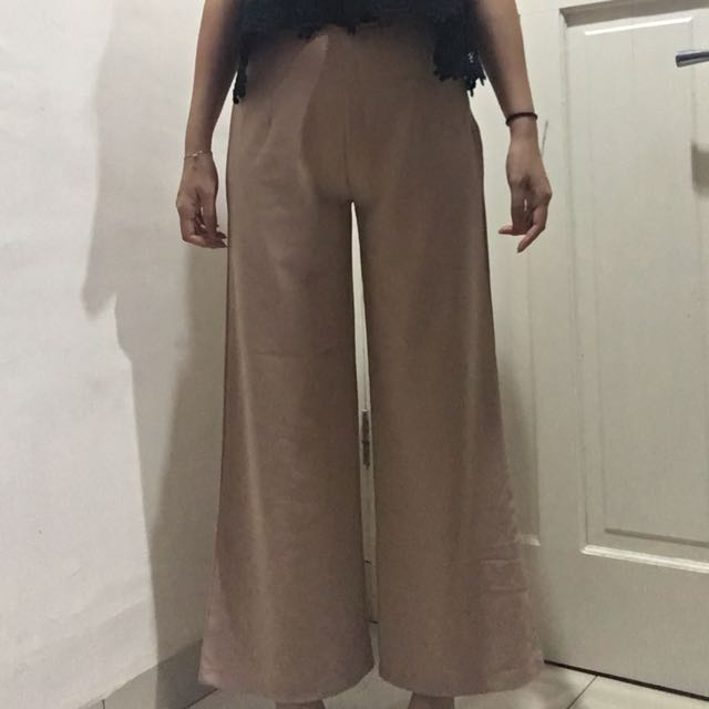 Pink Straight Culotte