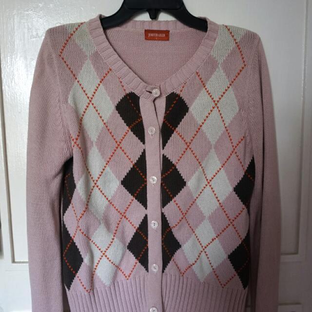 Pink Wool Cardigan