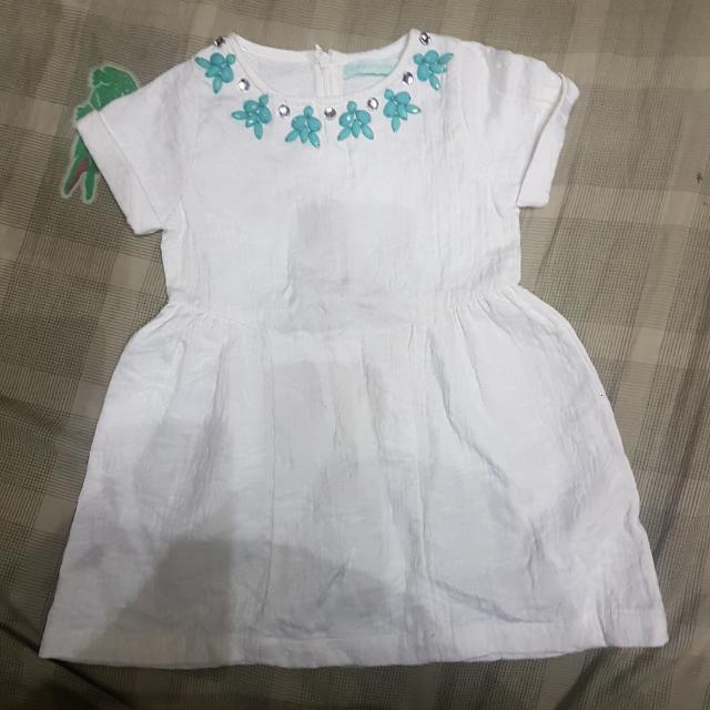 Preloved Gingersnaps White Dress Size 2