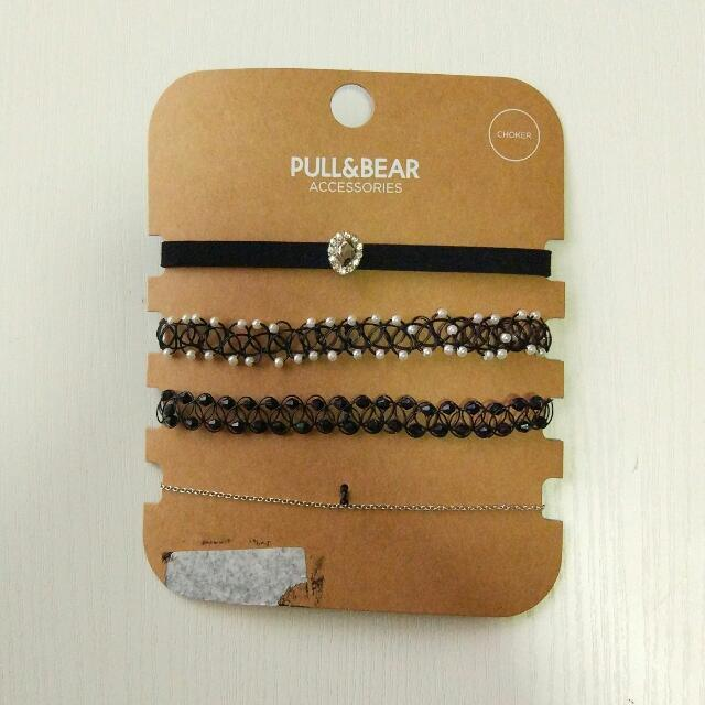 Pull&bear Choker Set Party Clam Crystal Necklace