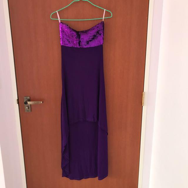 Purple Color Tube Dress