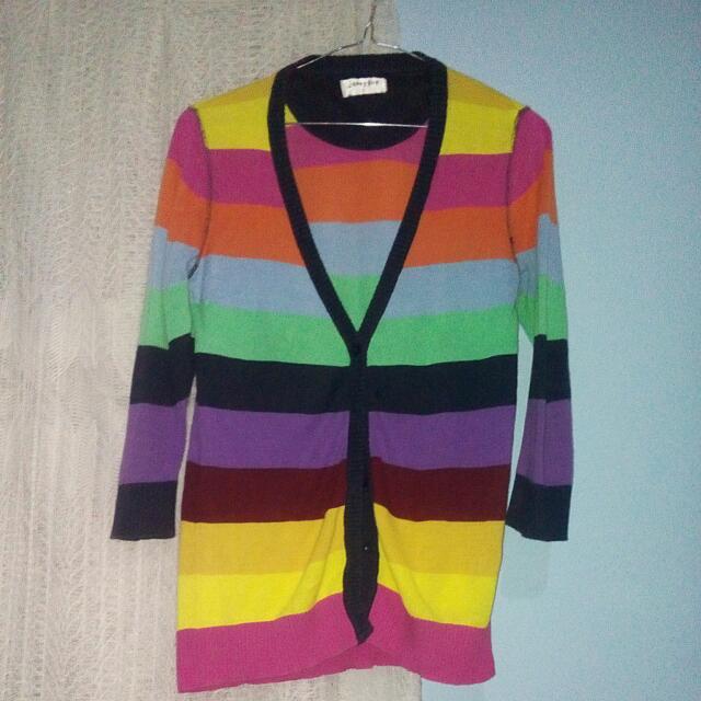 Rainbow cardigan (S)