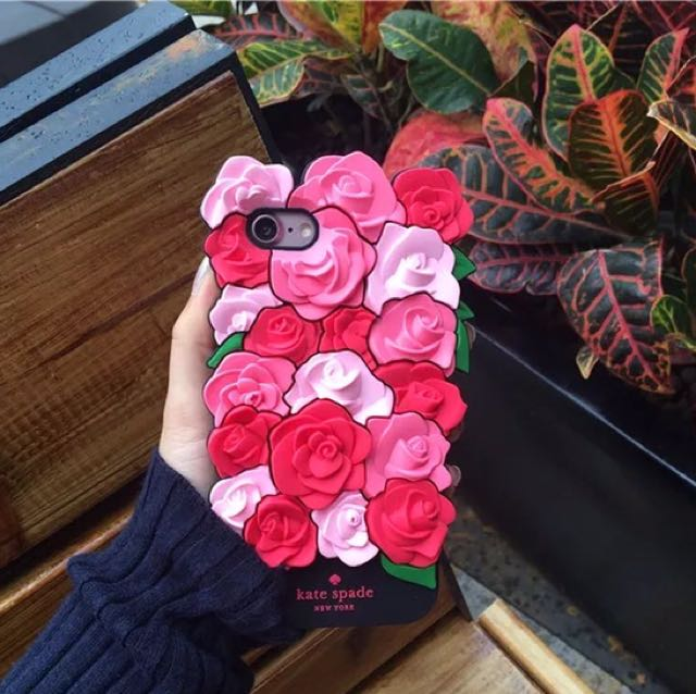 Ready Stock Roses Silicone iPhone Casing