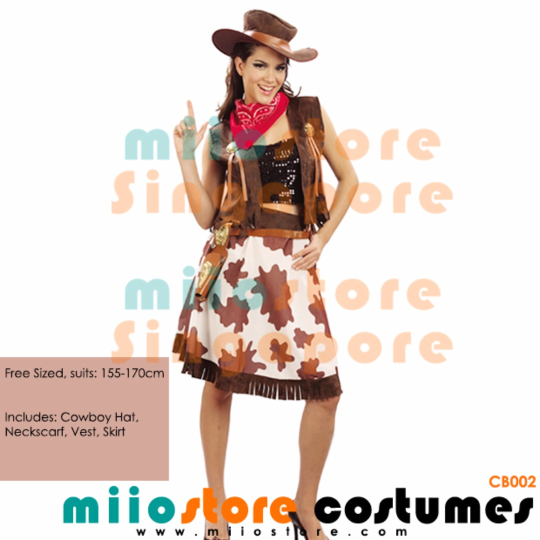 RENT/BUY COWBOY COSTUME COW BOY COW GIRL COWGIRL HAT PRINTS LEOPARD USA CANADA HALLOWEEN DRESS UP PARTY COSPLAY DRESSUP BROWN RANCHING CATTLE RANCH HAND ...  sc 1 st  Carousell & RENT/BUY COWBOY COSTUME COW BOY COW GIRL COWGIRL HAT PRINTS LEOPARD ...