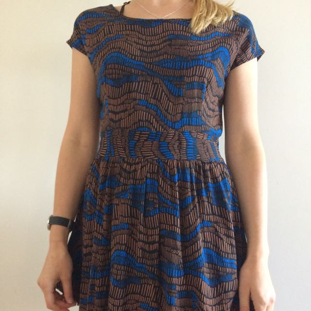 S Size Cotton On Patterned Mini Dress