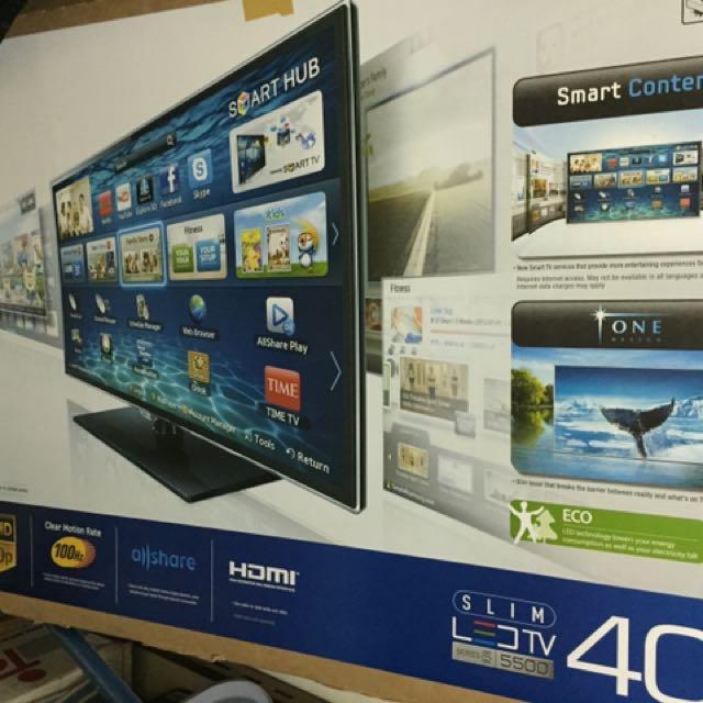"Samsung 40"" LED, Full HD, Smart TV."
