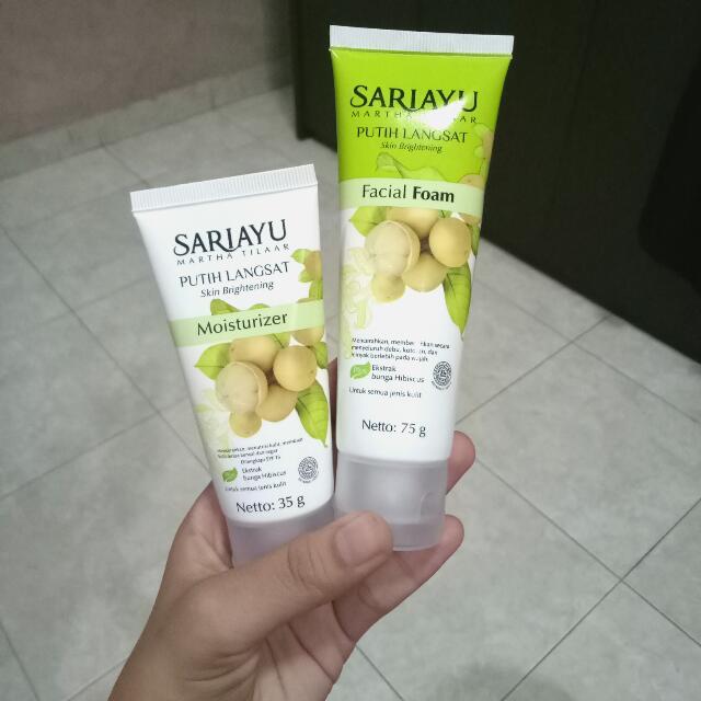 Sariayu Putih Langsat Facial Foam + Moisturizer
