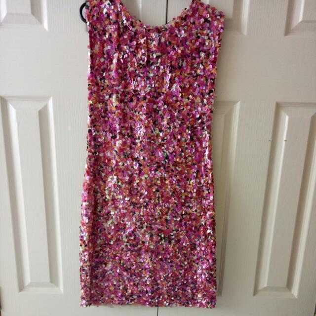 Sequinned Dress - Size 10 UK