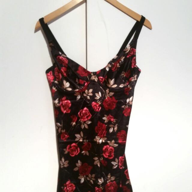 Silky Rose Slip Dress