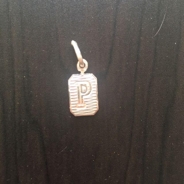Silver Letter P Pendant