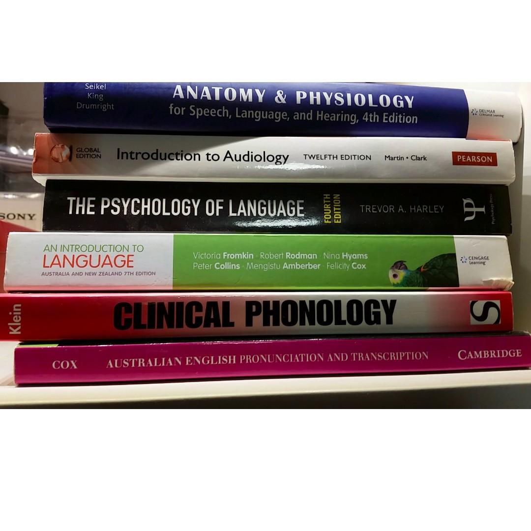 Speech / Language / Phonology / Audiology TEXTBOOKS
