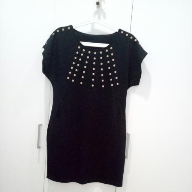 Studded Black Dress (from Korea)