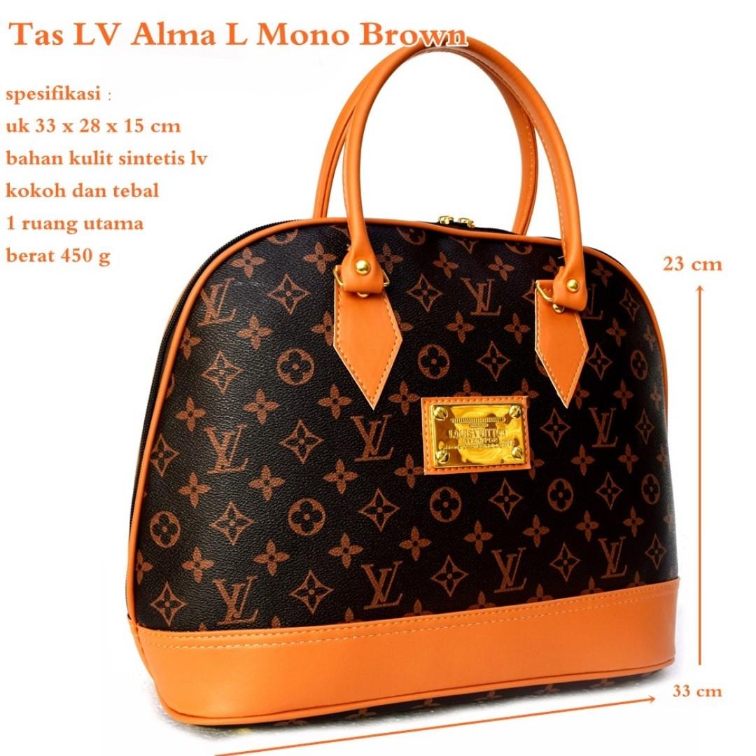 Tas Wanita Handbag Lv Alma Mono Brown Olshop Fashion Hand Bag Mini Di Carousell