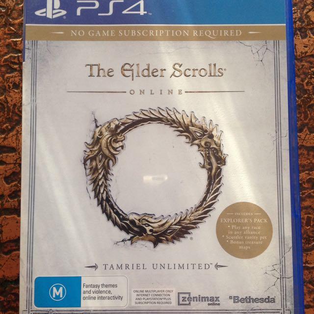 The Elder Scrolls Online ESO PS4
