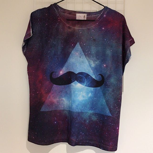 Tie-dyed Galaxy Pattern Print Tee