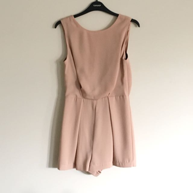 TOPSHOP Pink Playsuit Size 6