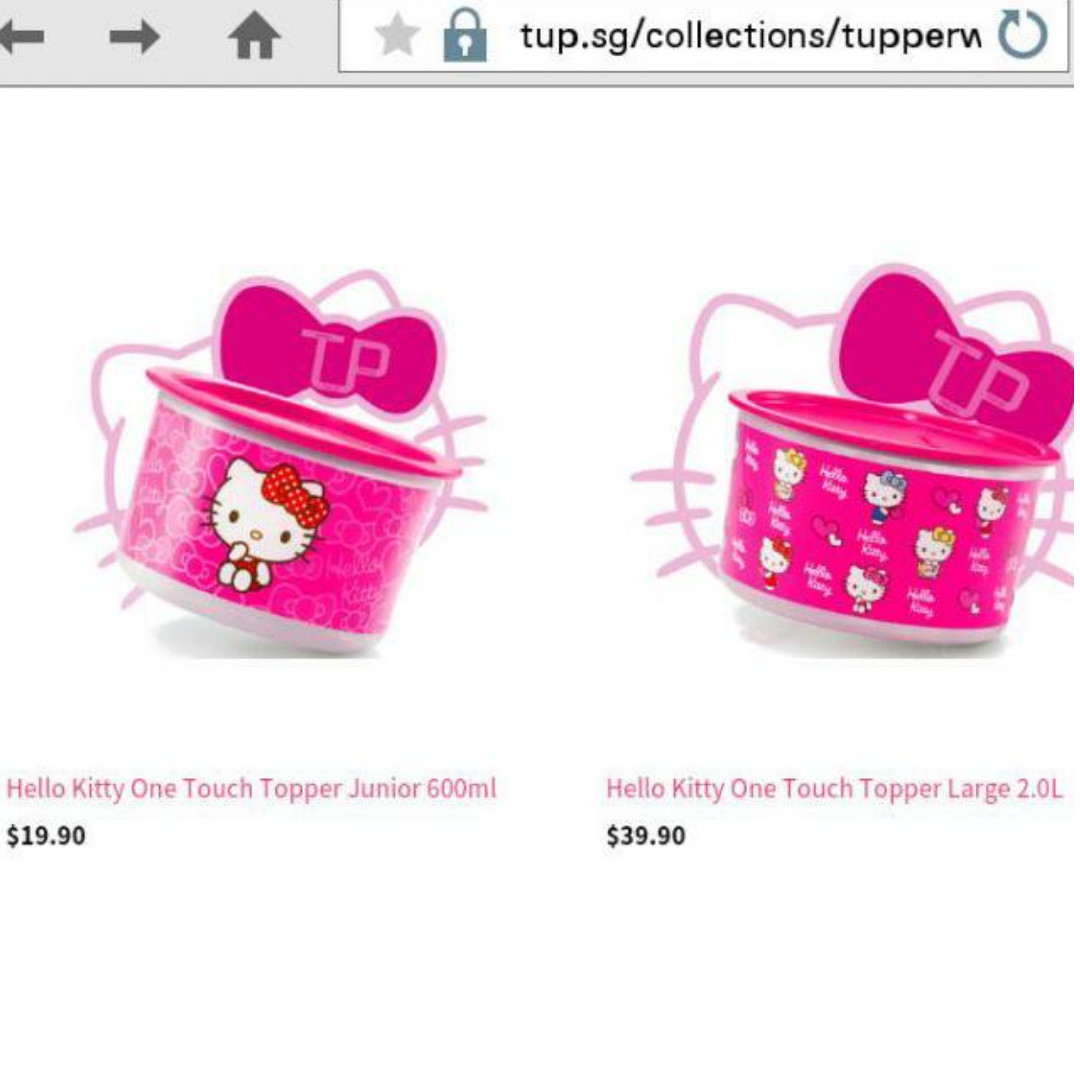 Tupperware Hello Kitty Containers (2pc Set), Kitchen & Appliances on ...