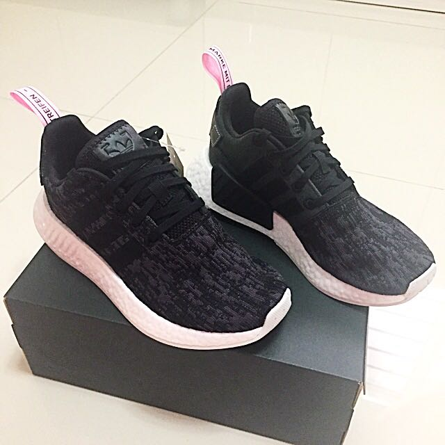 reputable site 0f5a7 d487a UK 4 Adidas NMD R2 Core Black/Wonder Pink BY9314, Women's ...