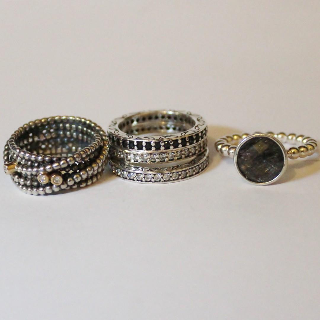 Various Pandora rings