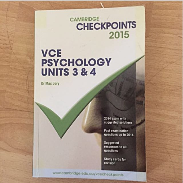 VCE Psychology Unit 3/4 Checkpoint
