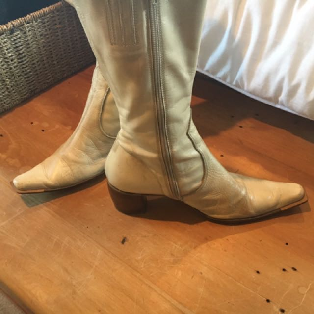 Vintage Cream Boots