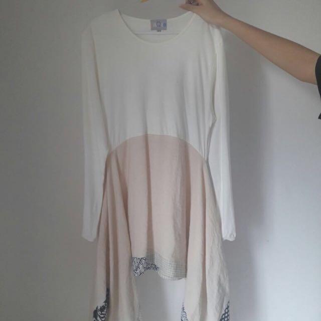 White & Beige dress