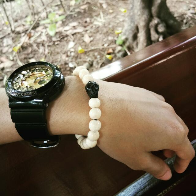 White Skull Bracelet