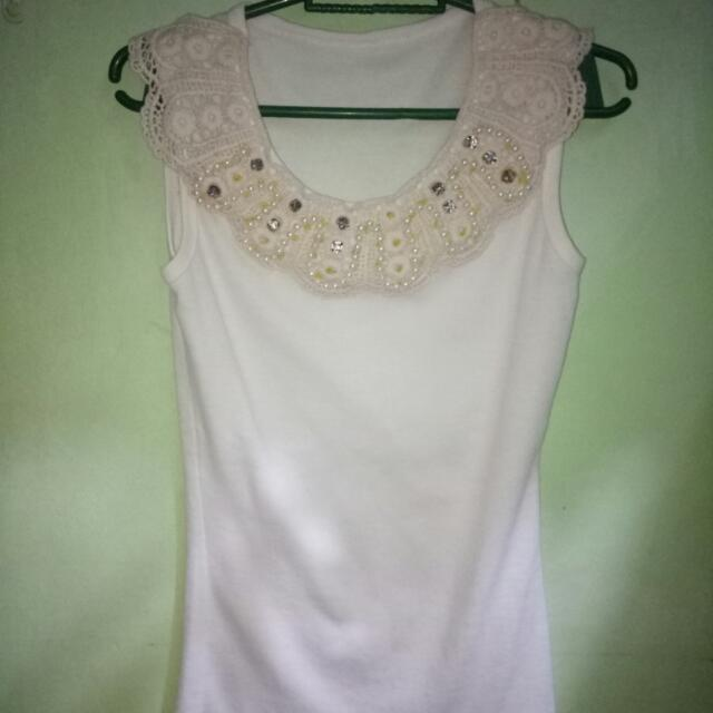 white sleeveless