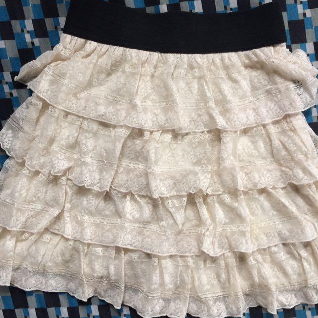 White/Cream Lace Skirt