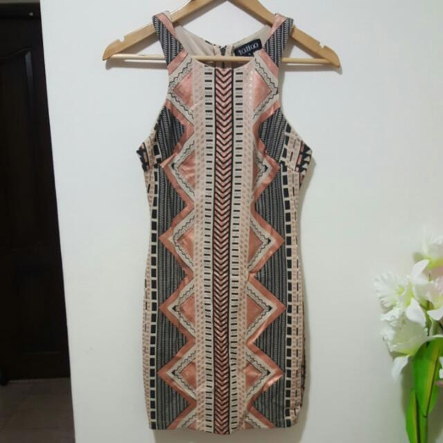 womens aztec print bodycon dress