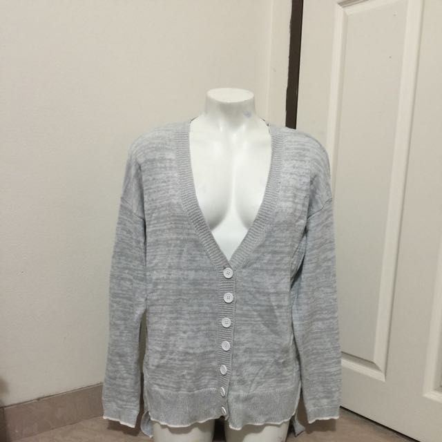 Women's Grey Boyfriend Cardigan