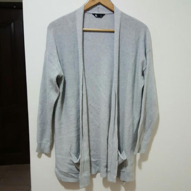 womens grey boyfriend cardigan