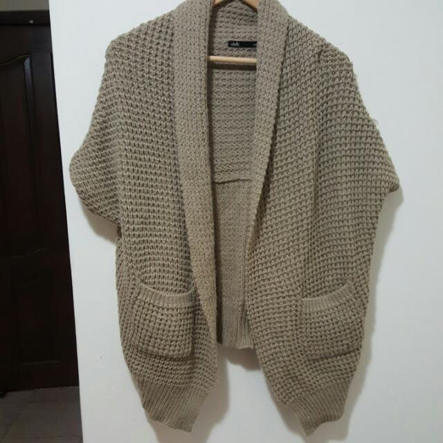 womens sleeveless knit cardigan shawl