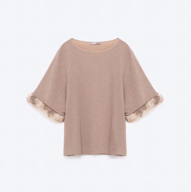 Zara Fur Trim Shirt