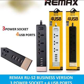 Lowest Priced Remax Power Socket RU-S2 Socket With 4 USB output. Authentic