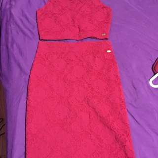 Two Piece Hot Pink Set From GUESS