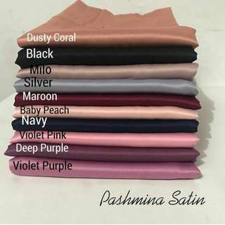 Pashmina Satin Silk (50rb utk 2Pcs)