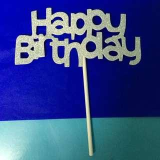 Happy Birthday Paper Cake Topper
