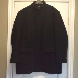 Men's Wool Coat - Black - XL
