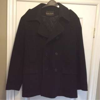 Men's Harry Rosen Wool Coat - Medium