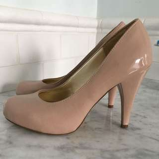 Steve Madden Patent Leather Nude Heels
