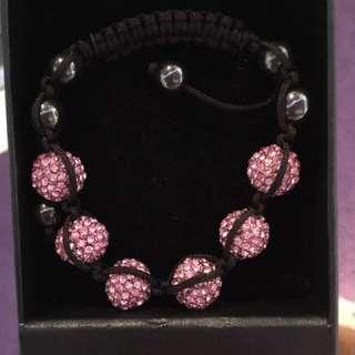 Rhinestone Lilac Bracelet